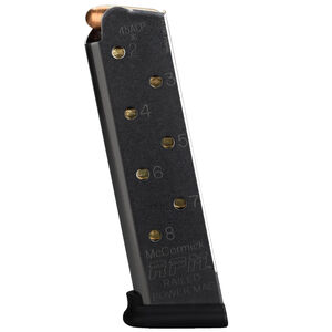 Chip McCormick Combat RPM 1911 Full Size Magazine .45 ACP 8 Rounds Stainless Steel Black Finish