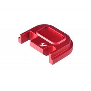 Strike Industries GLOCK Slide Cover Plate Fits All GLOCK Models Except 42/43 V1 Button Aluminum Red SI-GSP-V1-RED