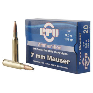 Prvi Partizan PPU 7mm Mauser Ammunition 20 Rounds 139 Grain Soft Point 2660fps