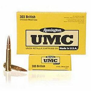 Remington UMC .303 British 174 Grain FMJ 20 Rounds