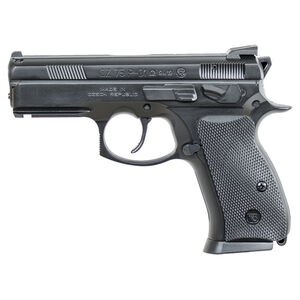 "CZ P-01 Omega Convertible Compact 9mm Luger Semi Auto Pistol 3.75"" Barrel 10 Rounds Fixed Sights Rubber Grips Matte Black Finish"