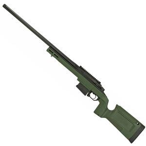 "Seekins Precision HAVAK Bravo 6.5mm PRC Bolt Action Rifle 24"" Barrel 20 MOA Rail Green KRG Bravo Chassis Matte Armor-Blak Finish"