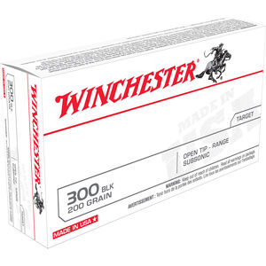 Winchester .300 Blackout Ammunition 200 Rounds FMJOT 200 Grains