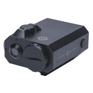 Sightmark LoPro Mini Green Laser Low Profile Design One Piece Weaver/Picatinny Mount Pressure Pad CR123A Battery Matte Black Finish