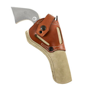 DeSantis Wild Hog SAA 5 ½ Inch Barrel Belt Holster AMBI Leather Tan