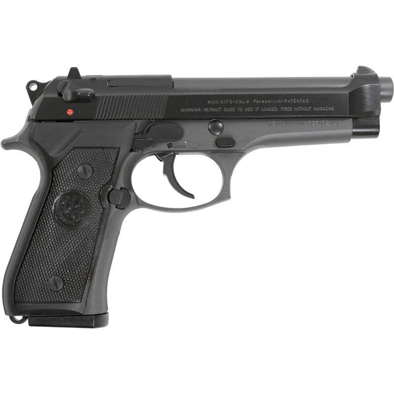 """Beretta 92FS 9mm Luger Semi Auto Pistol 4.9"""" Barrel 15 Rounds Two Tone Black Slide Gray Frame"""