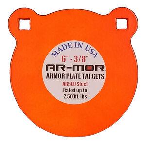 "AR-Mor 6"" AR500 Steel Gong Target 3/8"" Orange"