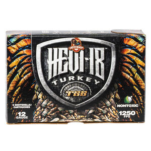 "Hevi-Shot Hevi-18 Turkey 12 Gauge Ammunition 5 Round Box 3-1/2"" #7 Tungsten Lead Free 2-1/4oz 1250 fps"