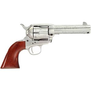 """Taylor's & Co Cattleman Floral Engraved .357 Mag Single Action Revolver 4.75"""" Barrel 6 Rounds Walnut Grips White Heat-Treated Finish"""