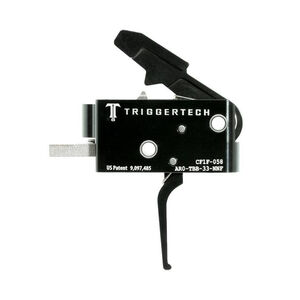 Trigger Tech Competitive AR-15 Primary Drop In Replacement Trigger Flat Lever Two Stage Non-Adjustable PVD Black Finish