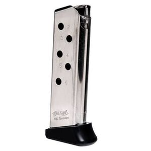 Walther PPK 6 Round Magazine w/Finger Rest .380 ACP Nickel