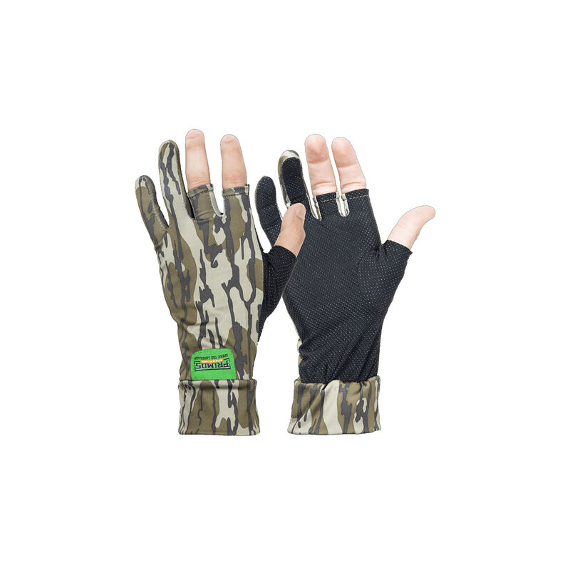 Primos Stretch Fit Fingerless Gloves One Size Fits Most Mossy Oak Bottomland 1 Pair
