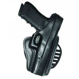 Gould & Goodrich Full Size 1911 Paddle Holster Leather Thumb Break Right Hand Black B807-195