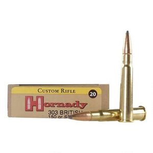 Hornady Custom .303 British Ammunition 20 Rounds SP 150 Grains 8225