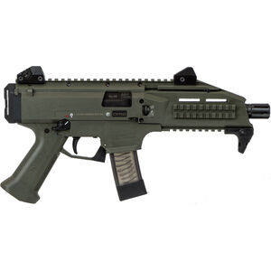 "CZ Scorpion EVO 3 S1 Pistol Semi Auto Pistol 9mm Luger 7.72"" Barrel 10 Rounds Low Profile Fully Adjustable Aperture/Post Fiber-Reinforced Polymer Frame OD Green"