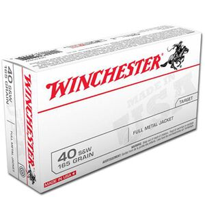 Winchester USA .40 S&W Ammunition 50 Rounds FMJFN 165 Grains USA40SW