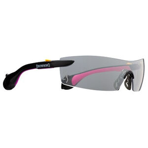 Browning Sound Shield Shooting Glasses with Ear Plugs For Her 25dB NRR Tint Black/Pink 12745