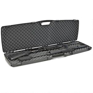 "Plano SE Series Double Rifle/Shotgun Case 52"" Length Contoured Recessed Latches Molded In Handle High Density Interlocking Foam Polymer Matte Black 1010586"