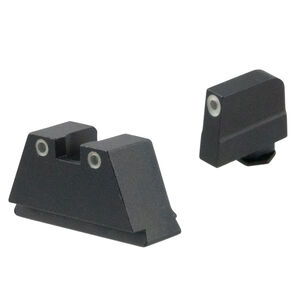 Ameriglo 3XL Tall 3-Dot Sight Set for GLOCK Green Tritium with White Outlines