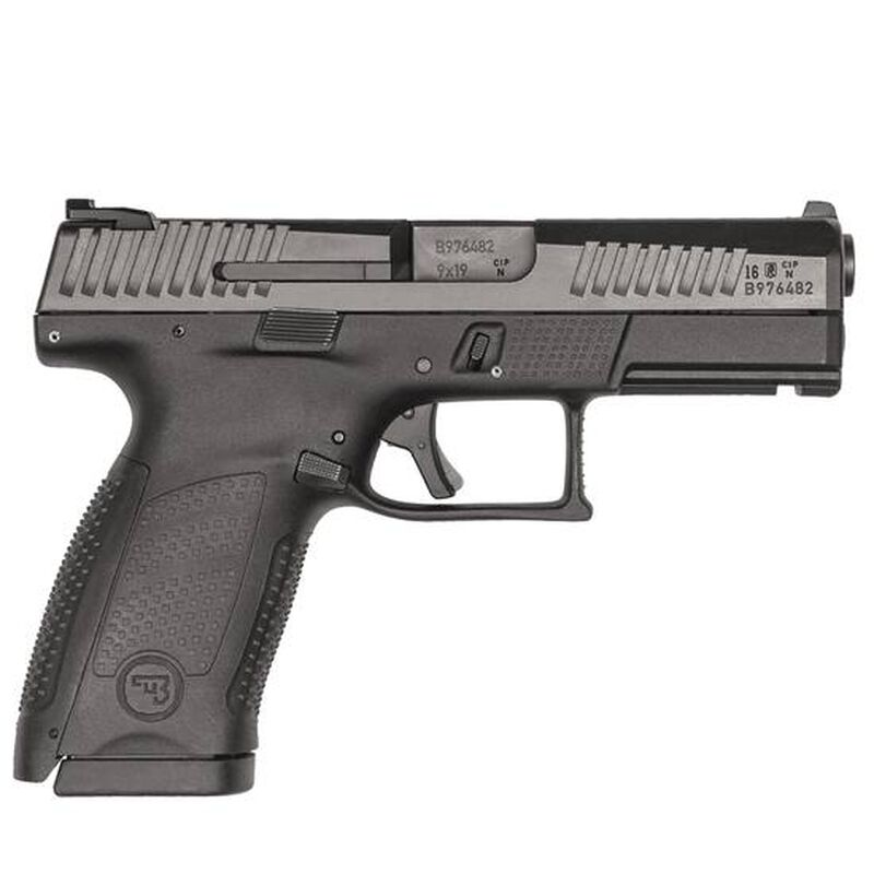 "CZ P-10 C 9mm Semi Auto Pistol 4.02"" Barrel 10 Rounds Three Dot Sights Matte Black"