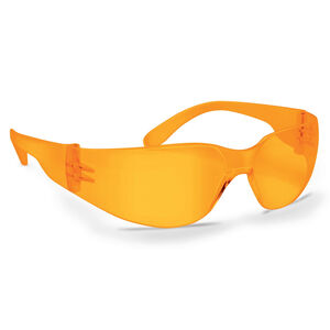 Walker's Game Ear Clearview Sport Shooting Glasses Wraparound Design Polycarbonate Amber Finish