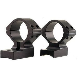 """Weatherby Vanguard Lightweight 1-Piece Alloy Scope Mount 1"""" Low Rings Black Anodized Finish"""