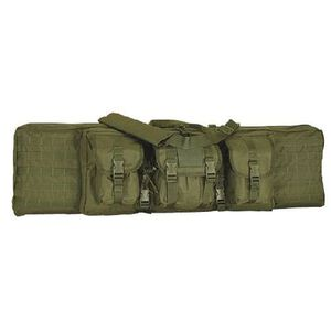 "Voodoo Tactical Enhanced Padded Rifle Weapon Case Single/Double Gun 42"" MOLLE Soft Case OD Green Finish"