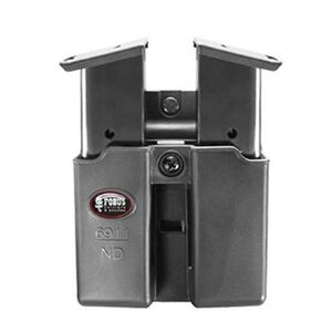 Fobus Belt Double Magazine Pouch 9mm/.40 Single Stack Magazines Ambidextrous Polymer Black 6911NDBH