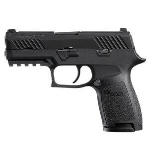 "SIG Sauer P320 Nitron Compact Semi Auto Pistol 9mm Luger 3.9"" Barrel 10 Rounds SIGLite Sights Modular Polymer Grip Nitron Finish Matte Black"