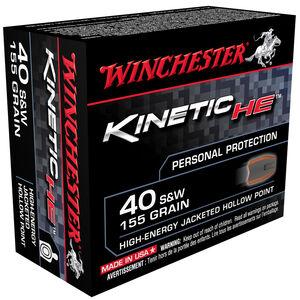 Winchester Kinetic HE .40 S&W 155 Grain JHP 20 Round Box