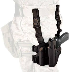 BLACKHAWK! SERPA GLOCK 17, 19, 22, 23, 31, 32 Level 2 Tactical Holster Polymer/Nylon Left Hand Black 430500BK-L
