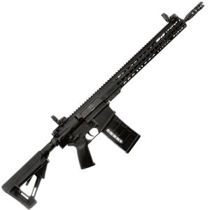 """ArmaLite AR-10A Tactical Semi Auto Rifle .308 Winchester 13.5"""" Barrel Pinned/Welded Muzzle Device 25 Rounds KeyMod Hand Guard Collapsible Stock Matte Black"""