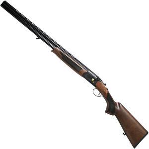 "Iver Johnson 600 20 Gauge O/U Break Action Shotgun 28"" Barrel 3"" Chamber 2 Rounds Engraved Receiver Walnut Stock Black Finish"