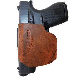 VersaCarry Pro 9mm Semi-Auto IWB/OWB Small Holster Right Hand Leather Brown