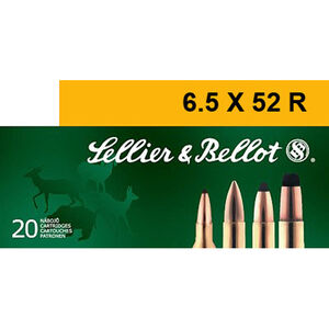 Sellier & Bellot 6.5x52R Ammunition 20 Rounds 117 Grain SP 2208fps
