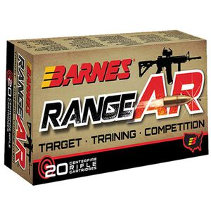 Barnes Range AR .300 Blackout Ammunition 20 Rounds Lead Free OTFB 90 Grains 30733