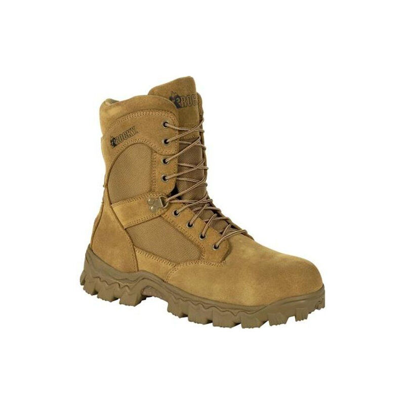 "Rocky International Alpha Force Composite Toe 8"" Boot Size 12 Coyote Brown"