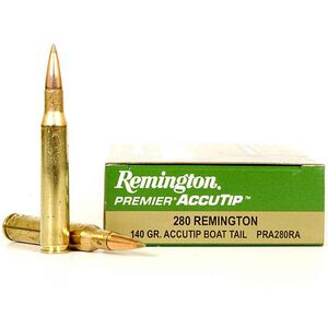 Remington Premier .280 Rem Ammunition, 20 Rounds, 140 Grain AccuTip 3000 fps