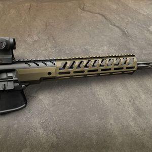 "Samson MPX-14 Sig Sauer MPX 14"" M-LOK Hanguard Aluminum FDE Cerakote"