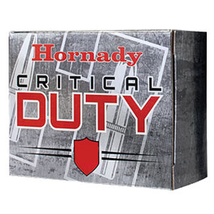 Hornady Critical Duty 9mm Luger +P Ammunition 25 Rounds 124 Grain FlexLock Polymer Tip Flat Base Projectile
