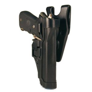 BLACKHAWK! SERPA Level 2 Duty Belt Holster for GLOCK 17/19/22/23 Left Hand Black