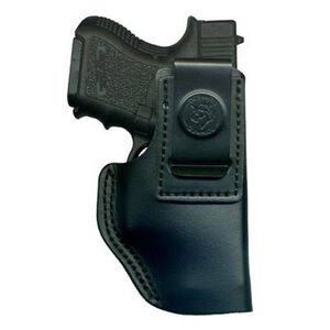 DeSantis The Insider IWB Holster Glock 42, 43, Ruger EC9s Right Hand Leather Black