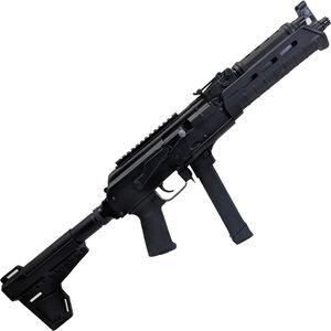 "Century Arms Draco NAK9X 9mm Luger AK Style Semi Auto Pistol 11.14"" Threaded Barrel 33 Rounds Uses GLOCK Style Magazines Magpul MOE Handguard Shockwave Blade Pistol Brace Black"