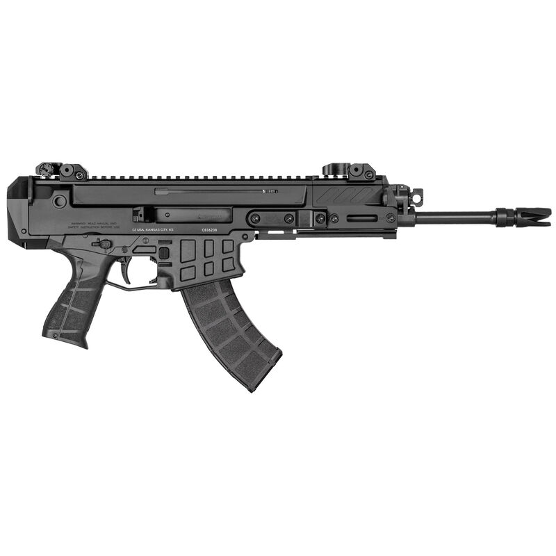 "CZ Bren 2 Ms 7.62x39 Soviet Semi Auto Pistol 11"" Barrel 30 Rounds Bren Magazine Compatible Aluminum Upper/Polymer Lower Matte Black Finish"