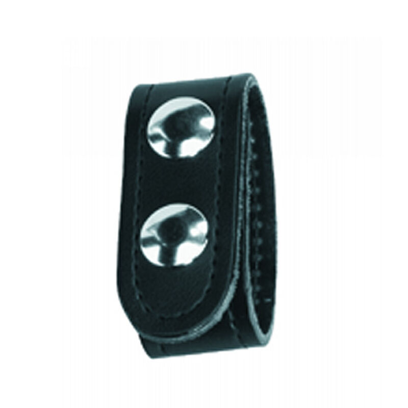 Gould & Goodrich K-Force Double Snap Belt Keepers Chrome Snaps Leather Plain Black 4 Pack