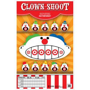 "Action Target Clown Shoot Paper Target 23""x35"" 100 Count"