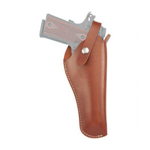 "Hunter Company VersaFit 5.5"" to 6.75"" Barrel Semi Auto 22 Caliber Pistols Belt Holster Right Hand Retention Strap Hand Crafted Top Grain Leather Brown"