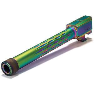 Faxon SIG P320 Fullsize Flame Fluted Barrel, 9mm, Threaded, Chameleon PVD