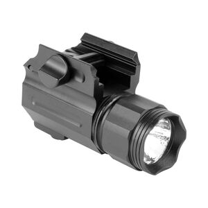 Aim Sports Compact 330 Lumen Weapon Light With Lens Filters Picatinny Compatible Aluminum Black
