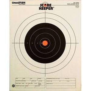 Champion Scorekeeper 100 Yard Small Bore Rifle Paper Target Orange Bull 12 Pack 45725